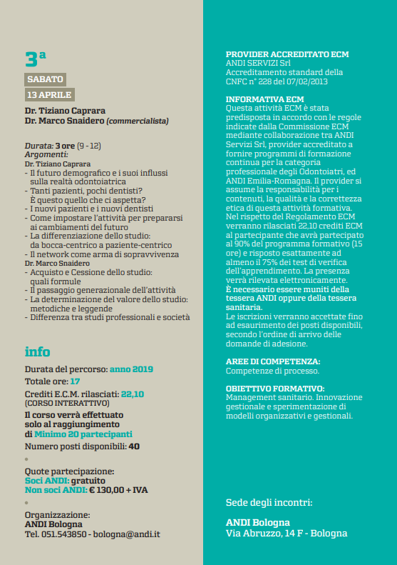 Percorso formativo extra clinico under 35 3