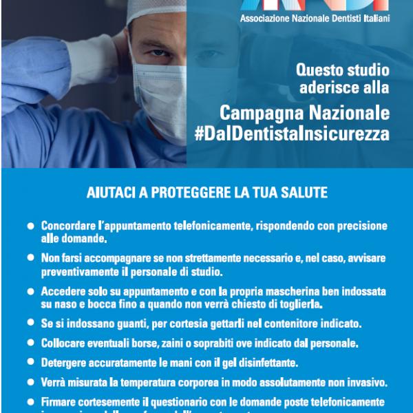 La campagna ANDI #DalDentistaInSicurezza