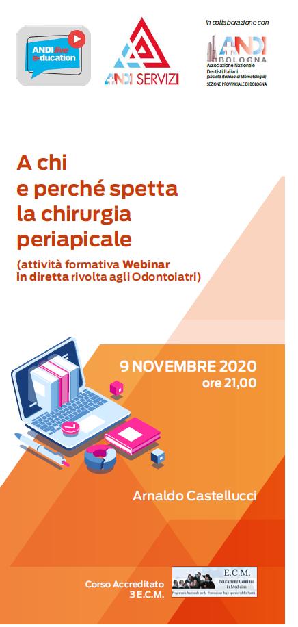 9 novembre 2020: il nuovo corso Webinar di Andi Bologna