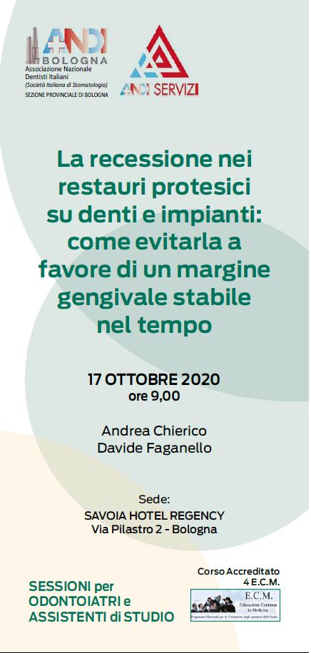 Riparte il programma culturale Andi Bologna! 17/10/2020: Eventi per odontoiatri e ASO
